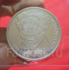 Германия 10 Марок 1988 (D) 200 лет Шопенгауэру (Серебро)