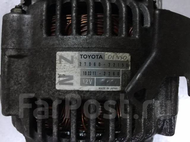 Генератор. Toyota: Premio, Allion, Corolla Spacio, WiLL VS, Allex, Corolla Axio, Avensis, RAV4, Corolla Verso, Corolla, MR-S, Opa, Vista, Celica, Cald...