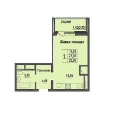 1-комнатная, улица Яна Полуяна 39. ФМР, агентство, 30 кв.м.
