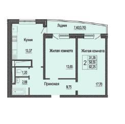 2-комнатная, улица Яна Полуяна 39. ФМР, агентство, 62 кв.м.