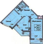2-комнатная, улица Дальняя 41. ФМР, агентство, 74 кв.м.