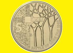 Австралия 5 долларов 2016 50th Anniversary of The Battle of Long Tan