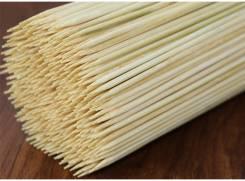 Деревянные шпажки 40x0,4 см (бамбуковые палочки для спиральных чипсов)