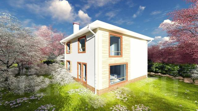 Az 1200x AlexArchitekt Продуманный дом с гаражом в Коломне. 200-300 кв. м., 2 этажа, 5 комнат, комбинированный