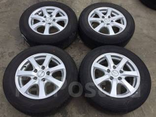 195/65 R15 Dunlop, Bridgestone литые диски 5х114.3 (L13-1508). 6.0x15 5x114.30 ET43 ЦО 72,0мм.