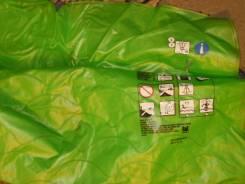 Зеленый надувной матрасик 105 см х 85 см