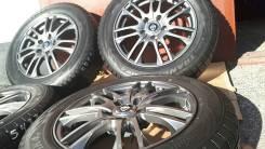 Колеса комплект. литье R16 Weds+резя 205/60/R16. New. 6.5x16 5x114.30 ET40 ЦО 72,5мм.