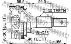 Шрус подвески. Toyota: Progres, Mark II, Crown Majesta, Mark II Wagon Blit, Chaser, Verossa, Crown, Altezza, Cresta Двигатели: 1JZGE, 1GFE, 2JZGE