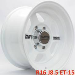 RAYS VOLK RACING TE37X. 8.5x16, 6x139.70, ET-15, ЦО 110,1мм.