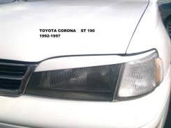 Реснички corona 190 (корона , бочка) 1992-1996 под покраску. Toyota Corona, CT190, ST191, CT195, ST195, AT190, ST190 Двигатели: 2C, 3SFE, 2CIII, 4AFE...
