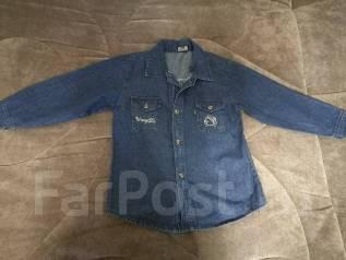 Рубашки джинсовые. Рост: 122-128, 128-134 см