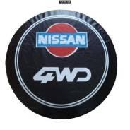 """Чехол на запасное колесо (кож.заменитель) 16"""" NISSAN 4WD черный Китай"""