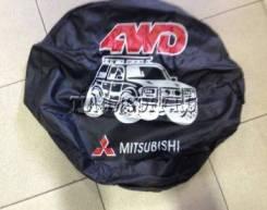 """Чехол на запасное колесо (кож.заменитель) 16"""" MMC 4WD черный (машинка) Китай 1/50"""