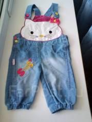 Полукомбинезоны джинсовые. Рост: 74-80 см