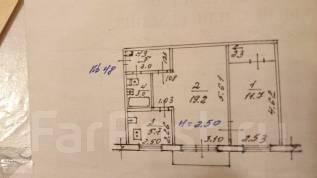 2-комнатная, улица Космическая 9. Индустриальный, агентство, 44 кв.м.