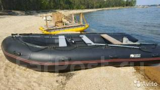 Лодка резиновая с алюминиевым дном. Год: 2016 год, длина 5,00м., двигатель подвесной, 38,00л.с., бензин