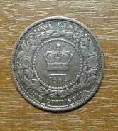 Нью Брансвик New Brunswick 1 цент 1864 KM 6. Чекан 1 год (Sc.2)