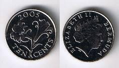 Бермудские острова (Бермуды) 10 центов 2005 Цветок. Unc - монета из