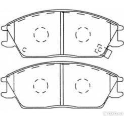 Тормозные колодки, Передние на Hyundai Santa Fe (2000-2006) / SP1157 / SANGSIN