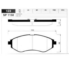 Тормозные колодки, Передние (88964197, 88982614) на Cadillac Escalade (2001-2014) / SP1158 / SANGSIN