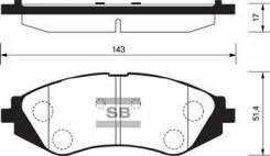 Тормозные колодки, Передние (96245178, 9625338) на Chevrolet Lacetti (2005- ) / SP1159 / SANGSIN