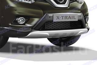 Накладка на бампер. Nissan X-Trail, HNT32, HT32, NT32, T32