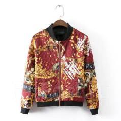 Стеганная куртка-бомбер бордо на подростка