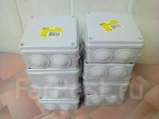 Продам коробки распаячные, электрика, крепеж, автоматы, дешево.