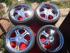 "Хромированные колеса R22 на Mustang, Chrysler на практически NEW шинах. 8.5/10.0x22"" 5x114.30 ЦО 70,1мм."