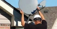 Монтаж спутниковой антенны, телефонии, сигнализации, светодиодов
