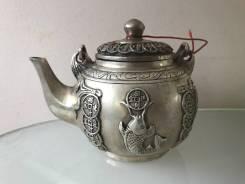 Антикварный серебряный чайник Китай. Оригинал