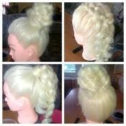 Плетение кос, прически, локоны, макияж