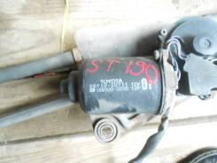 Мотор стеклоочистителя. Toyota Corona, ST191, ST190, CT190, CT195, ST195, AT190 Toyota Caldina, CT198, CT196, CT190, ET196, ST190, ST191, ST195 Двигат...