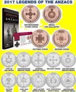Австралия набор 14 монет по 20 и 25 центов 2017 Legends of Anzacs