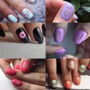 Стемпинг и трафареты для ногтей.