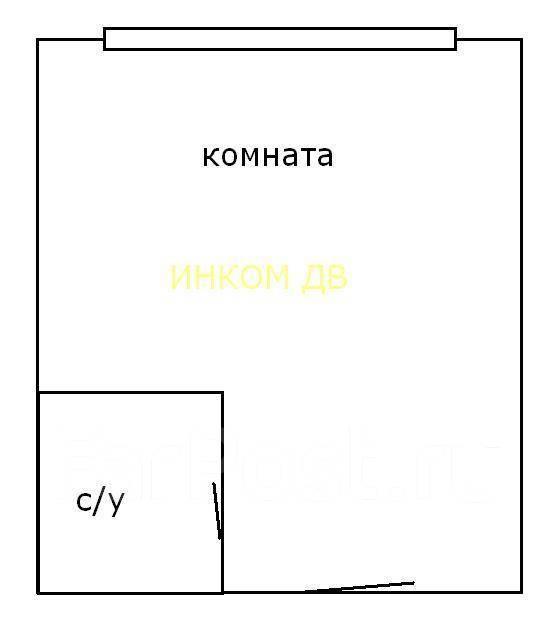 Гостинка, улица Надибаидзе 26. Чуркин, 18 кв.м. План квартиры