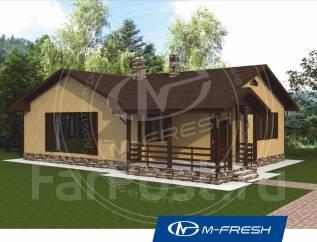 M-fresh Cherry (Проект 1-этажного дома с террасой). 100-200 кв. м., 1 этаж, 3 комнаты, бетон