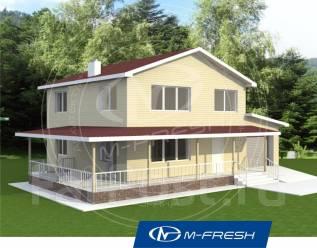 M-fresh Bali (Посмотрите проект дома с террасой и гаражом! ). 200-300 кв. м., 2 этажа, 4 комнаты, каркас
