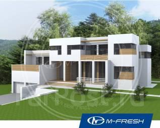 M-fresh Brilliant green (Проект современного европейского дома! ). более 500 кв. м., 2 этажа, 6 комнат, бетон