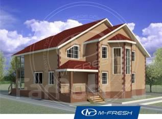 M-fresh New dance (Готовый проект большого дома! ). 300-400 кв. м., 2 этажа, 5 комнат, кирпич