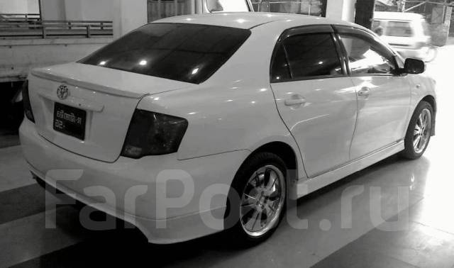 Накладка на бампер для Toyota Axio 141 кузов. Toyota Corolla Axio, NZE141 Двигатель 1NZFE