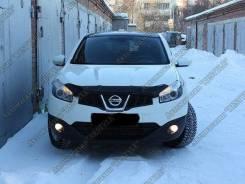 Дефлектор капота. Nissan Qashqai, J10, J10E Nissan Dualis, KNJ10, KJ10, NJ10, J10. Под заказ
