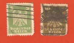 2 марки Германия 1921 г. Гашение