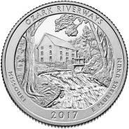США 25 центов 2017 г . Речной парк Озарк - 38 парк .