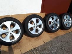 Летние колеса Toyota R17 оригинал+шины Dunlop 225/55/17. 7.0x17 5x114.30 ET45 ЦО 60,1мм.