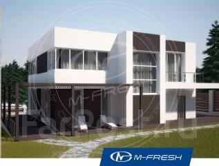 M-fresh Crystal (Проект современного дома с плоской кровлей! ). 400-500 кв. м., 2 этажа, 6 комнат, бетон