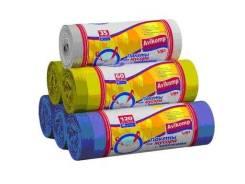 Мешки для мусора CLEAR LINE Выгодно 120 л*10шт в Рулоне/черные