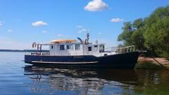 Аренда катера, прогулки по Рыбинскому Водохранилищу. 10 человек, 11км/ч
