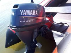 Yamaha. 15,00л.с., 4х тактный, бензин, нога S (381 мм), Год: 2008 год