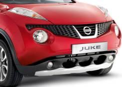 Накладка на бампер. Nissan Juke, SUV, F15, NF15, YF15 Двигатели: HR16DE, MR16DDT, HR15DE. Под заказ